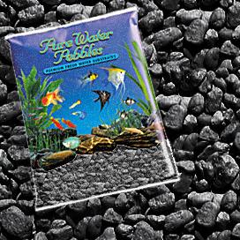 Aquarium gravel fish tank decorations pure water pebbles for Black fish tank gravel