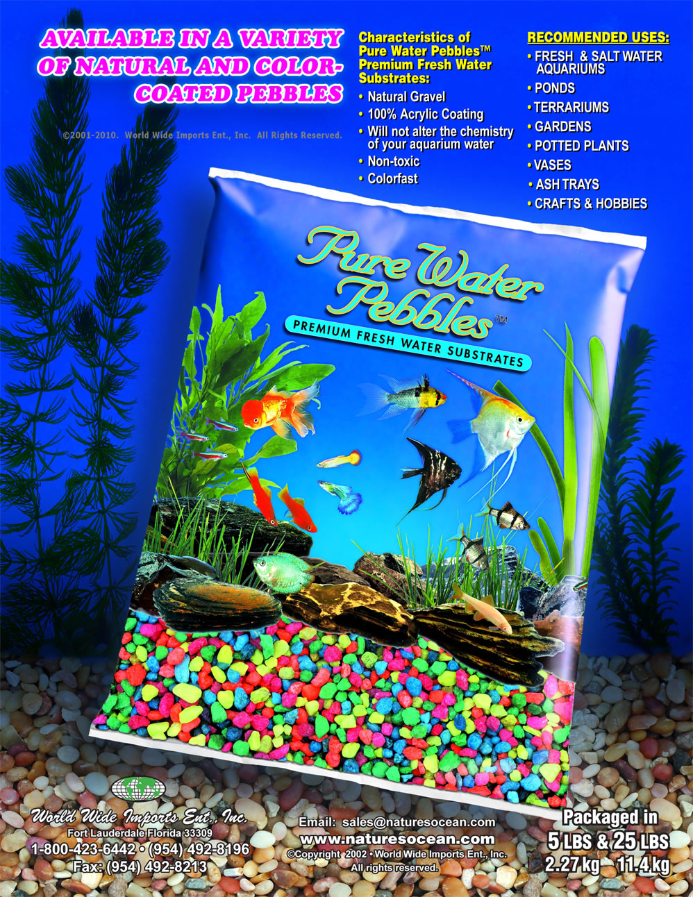 Rocks for aquariums and landscapers by pure water pebbles for Aquarium pond fish pdf